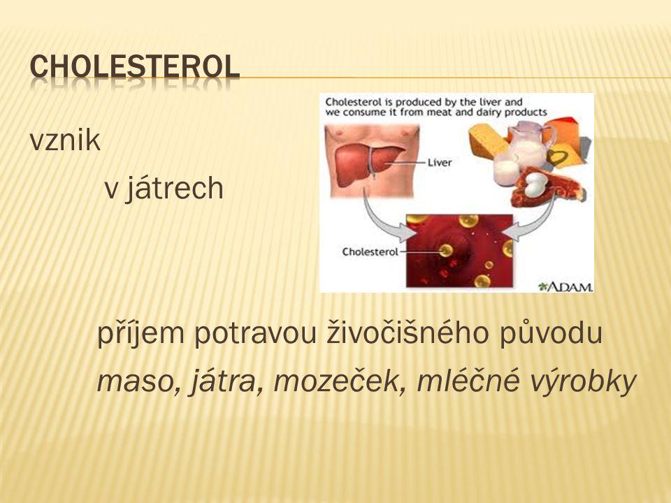 vysoká krevní hladina je rizikovým faktorem arteriosklerózy, infarktu myokardu …!!