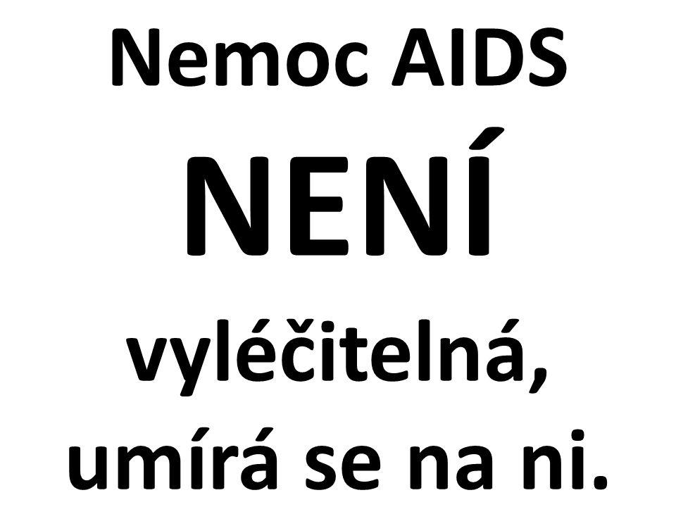 Nemoc AIDS NENÍ vyléčitelná, umírá se na ni.