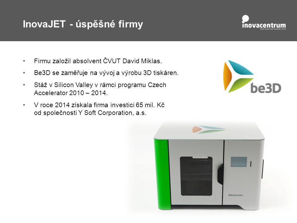 InovaJET - úspěšné firmy Firmu založil absolvent ČVUT David Miklas.