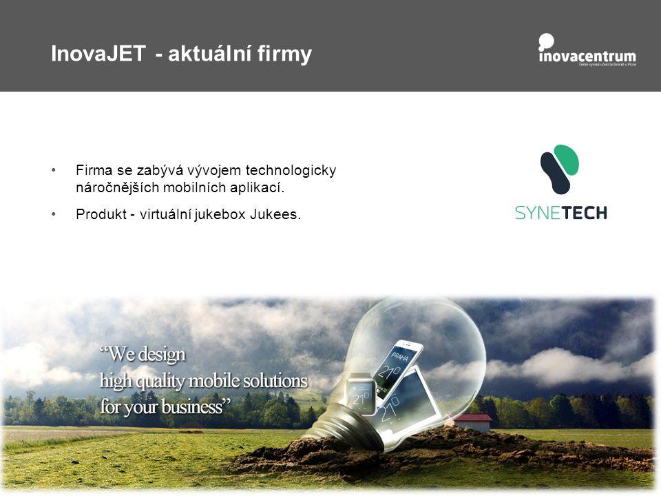InovaJET - aktuální firmy Firma se zabývá vývojem technologicky náročnějších mobilních aplikací.