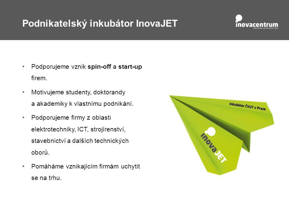 Podnikatelský inkubátor InovaJET Podporujeme vznik spin-off a start-up firem.