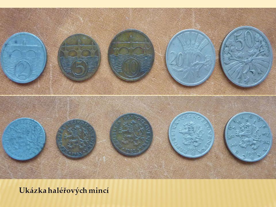 Ukázka haléřových mincí
