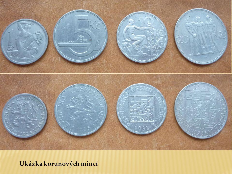Ukázka korunových mincí