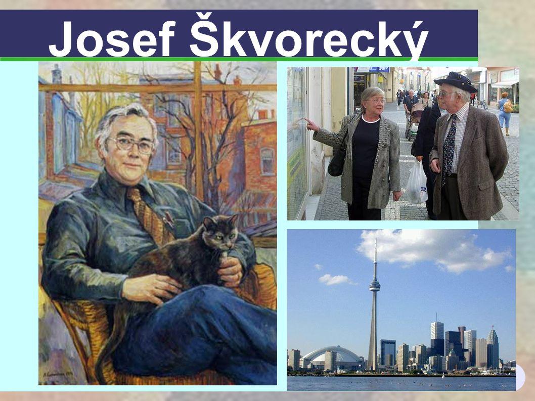 2 Josef Škvorecký (1924) Vystudoval filozofii v Praze, působil jako redaktor, spisovatel.