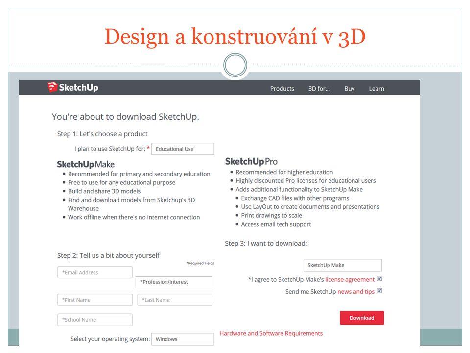 Design a konstruování v 3D