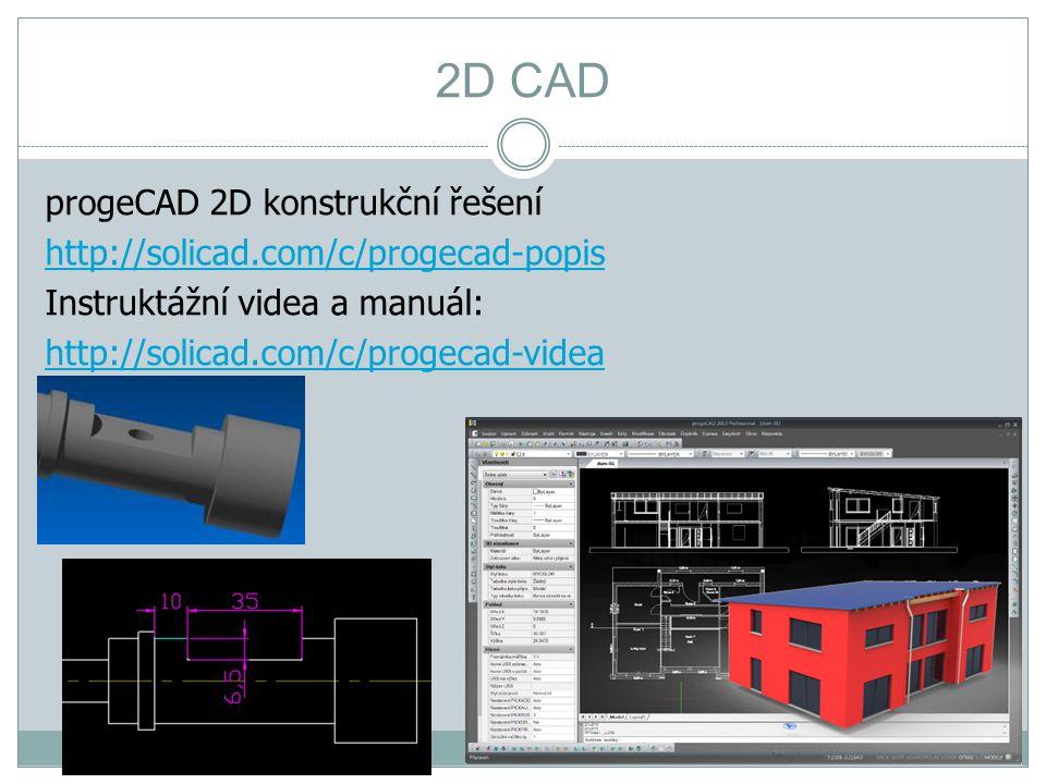 2D CAD progeCAD 2D konstrukční řešení http://solicad.com/c/progecad-popis Instruktážní videa a manuál: http://solicad.com/c/progecad-videa