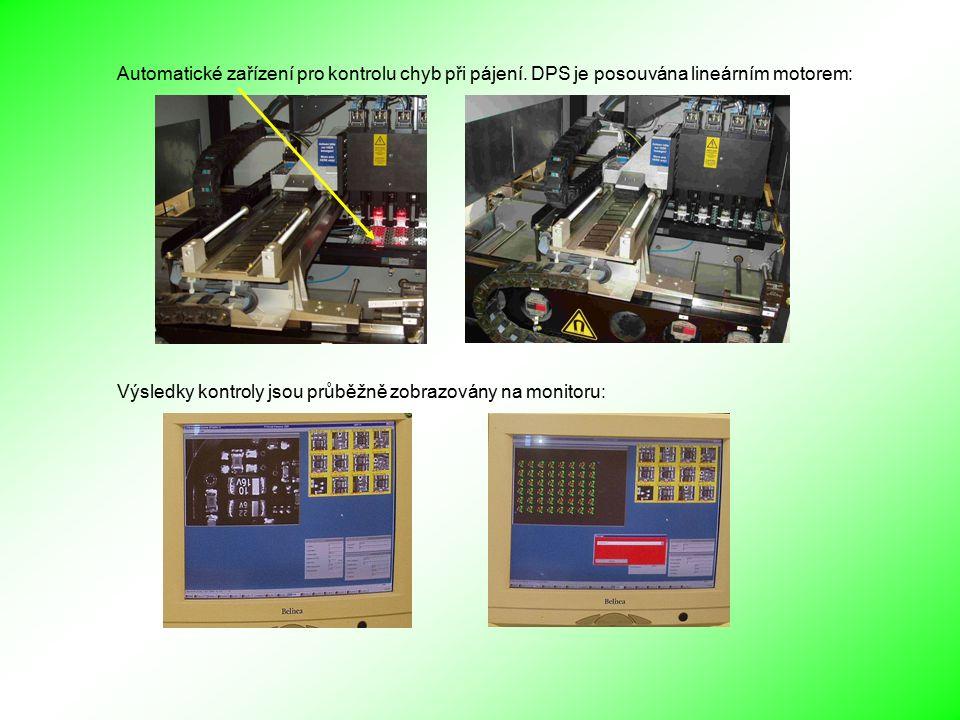 Automatické zařízení pro kontrolu chyb při pájení.