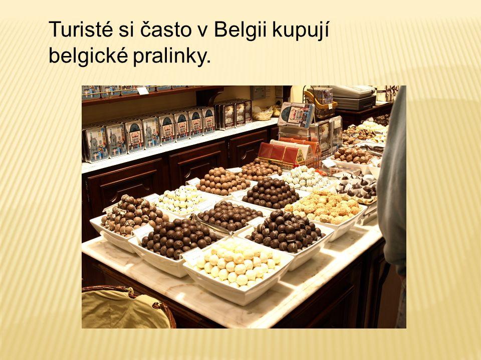 Turisté si často v Belgii kupují belgické pralinky.