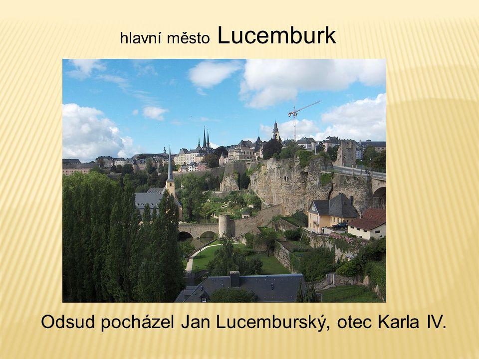 Odsud pocházel Jan Lucemburský, otec Karla IV.