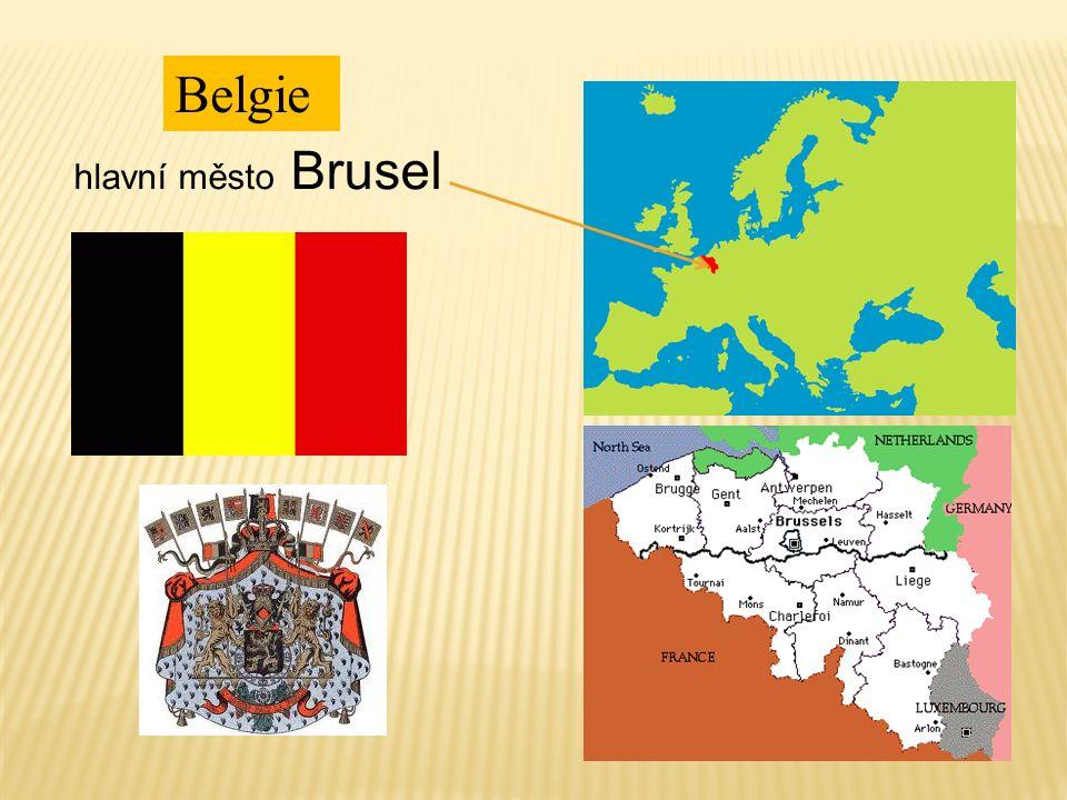 Belgie je království. Král Albert II. Atomium (Brusel)