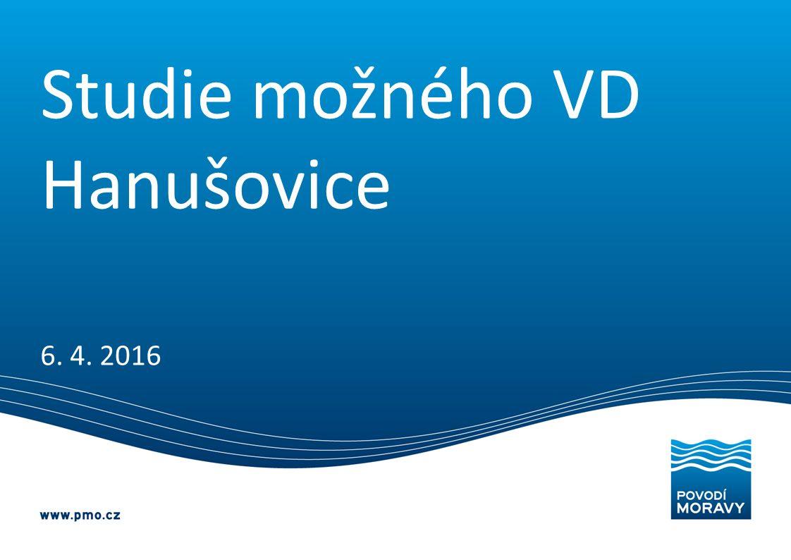 Studie možného VD Hanušovice 6. 4. 2016
