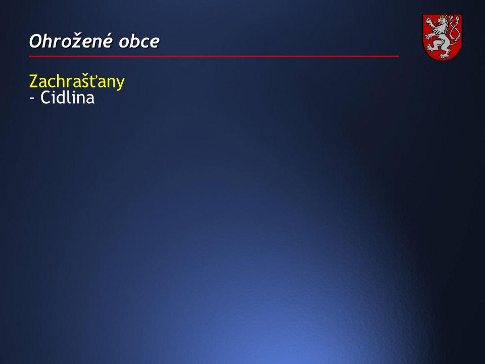 Ohrožené obce Zachrašťany - Cidlina