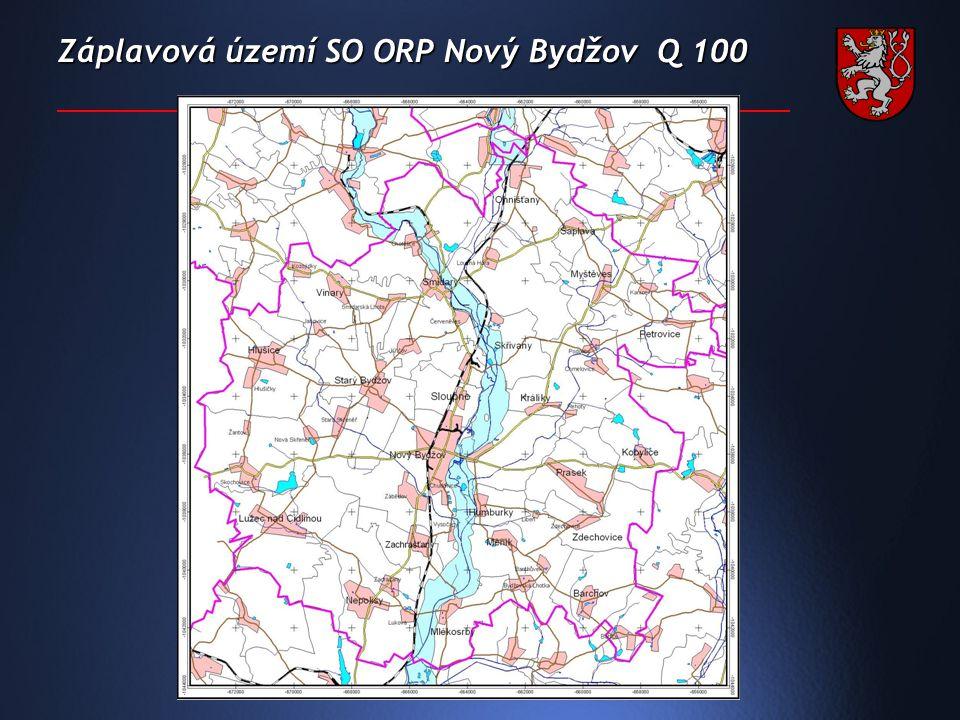 Záplavová území SO ORP Nový Bydžov Q 100