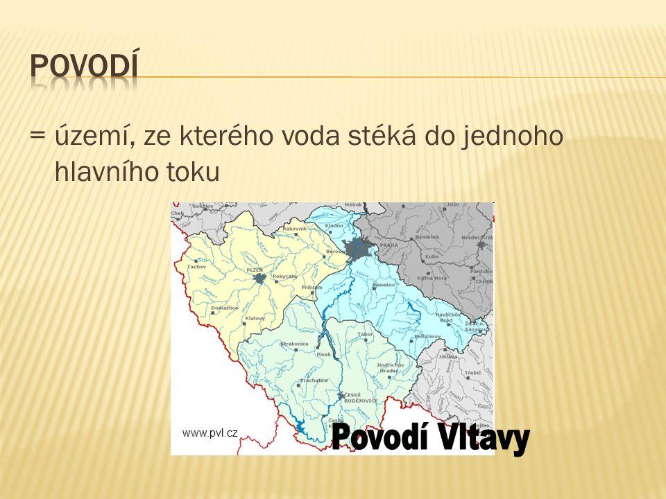= území, ze kterého voda stéká do jednoho hlavního toku www.pvl.cz