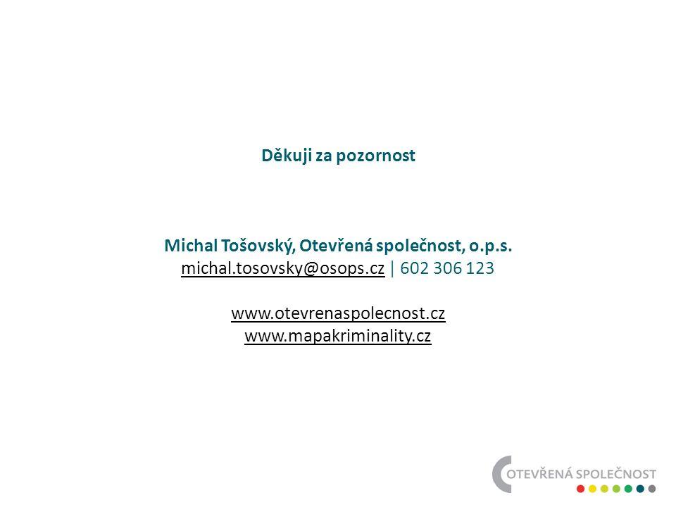 Děkuji za pozornost Michal Tošovský, Otevřená společnost, o.p.s.