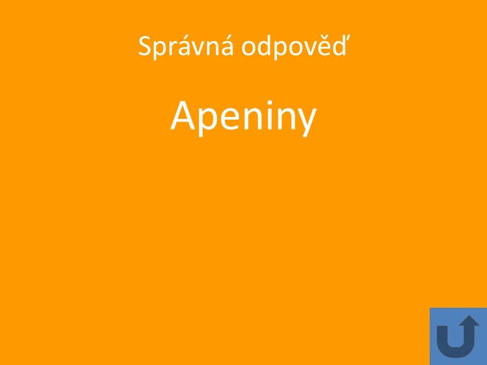 Správná odpověď Apeniny