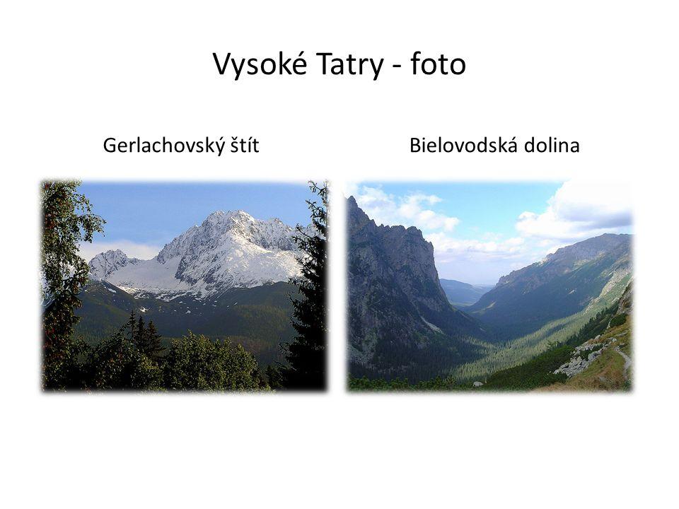 Vysoké Tatry - foto Gerlachovský štítBielovodská dolina