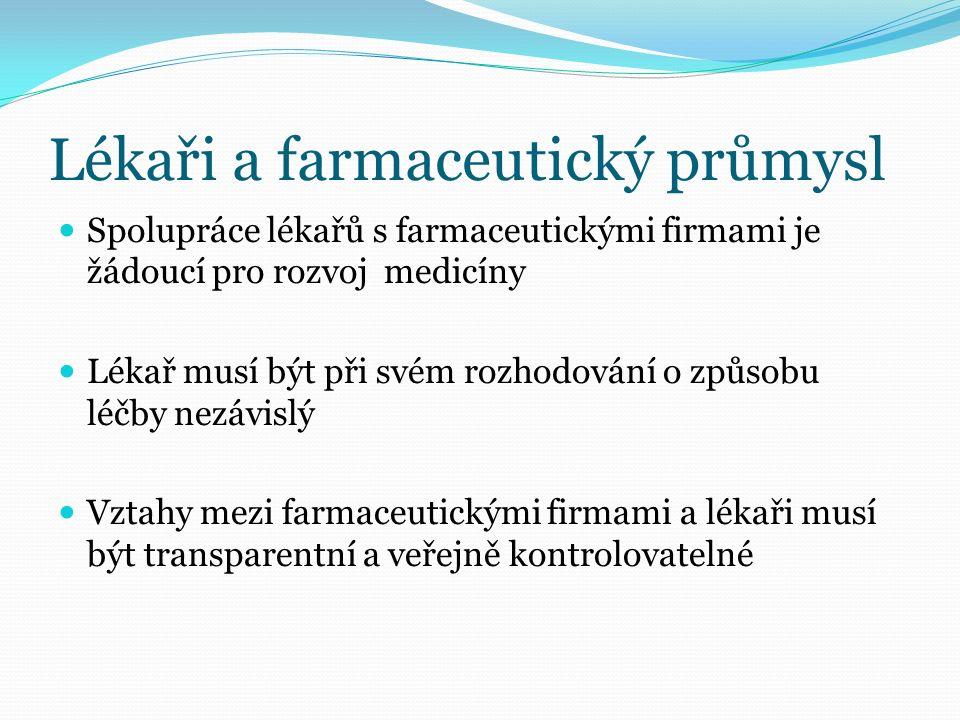ČLK - potlačování korupce lékařů Etický kodex ČLK (SP10) Disciplinární řád ČLK (SP 4) Závazné stanovisko ČLK 1/2008