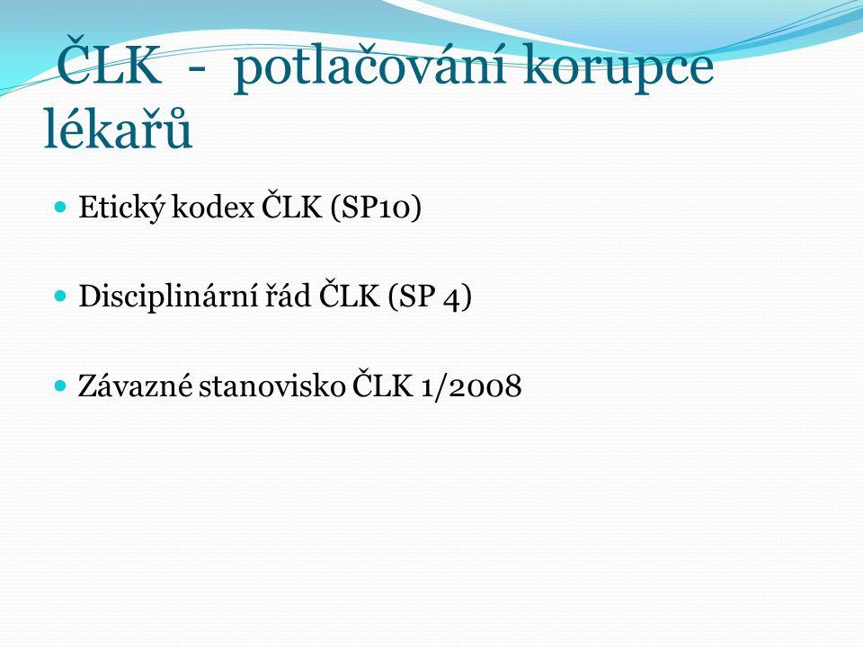 Vztah lékařů k farmaceutickým firmám Společná deklarace CPME a EFPIA – 9.4.2005 Brusel Pravidla spolupráce mezi lékaři a farmaceutickými firmami - prevence neetického chování Deklarace v souladu s doporučením WHO, WMA a směrnicemi EU - direktiva 2001/83/EC doplněná direktivou 2004/27/EC