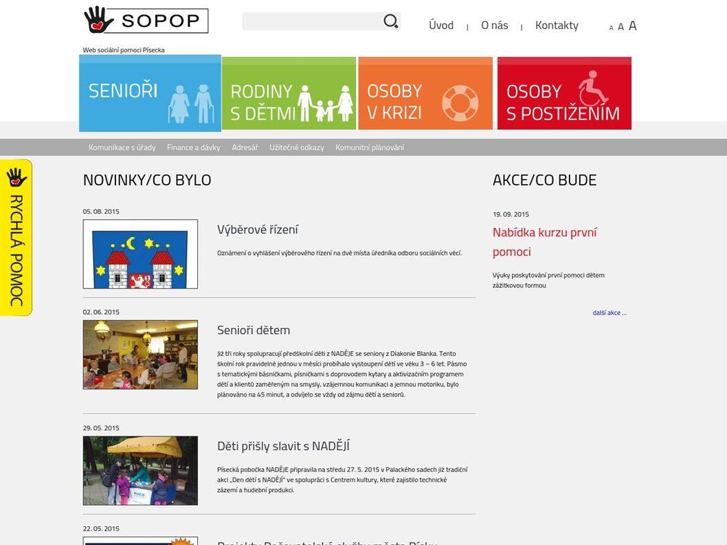 Podíl knihovny Pravidelná aktualizace informací Koordinace a součinnost webu s oblastními pokytovateli soc.