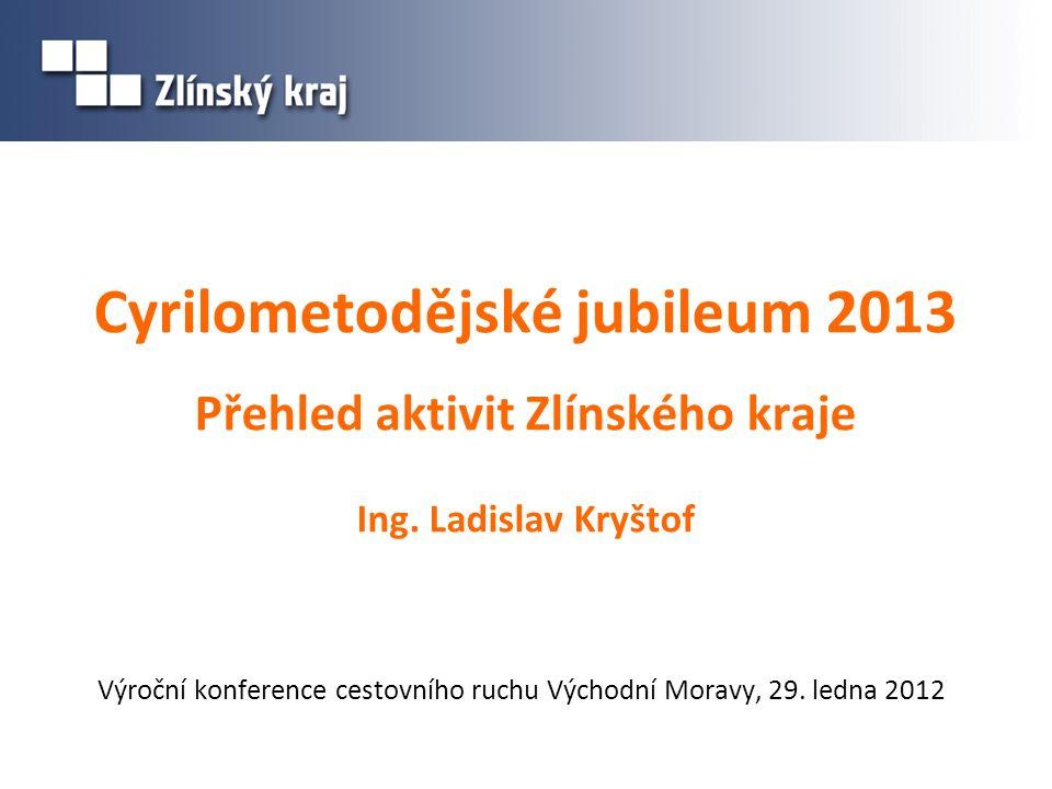 Cyrilometodějské jubileum 2013 Přehled aktivit Zlínského kraje Ing.