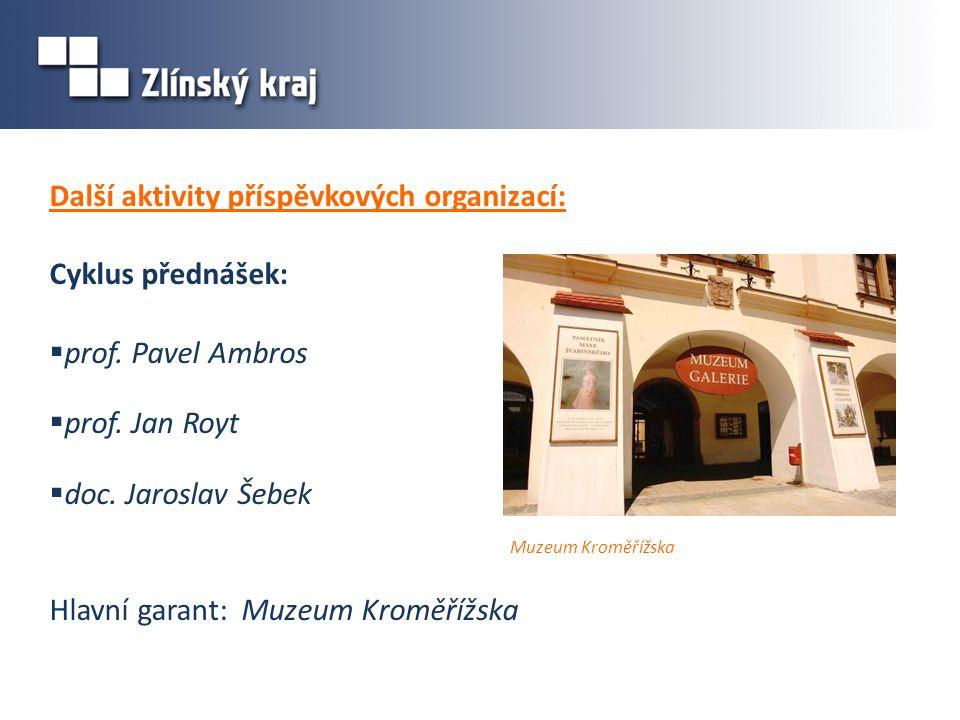 Další aktivity příspěvkových organizací: Cyklus přednášek:  prof.