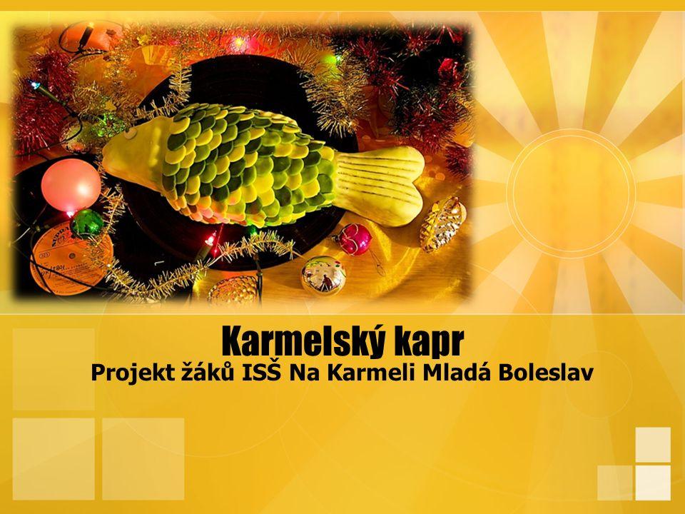 Karmelský kapr Projekt žáků ISŠ Na Karmeli Mladá Boleslav