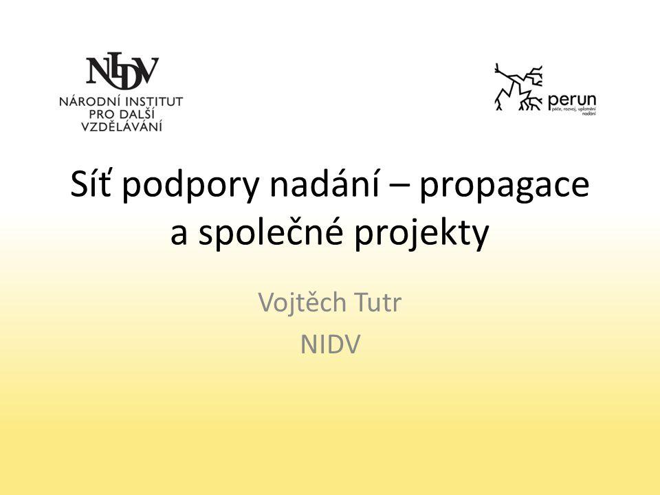 Síť podpory nadání – propagace a společné projekty Vojtěch Tutr NIDV