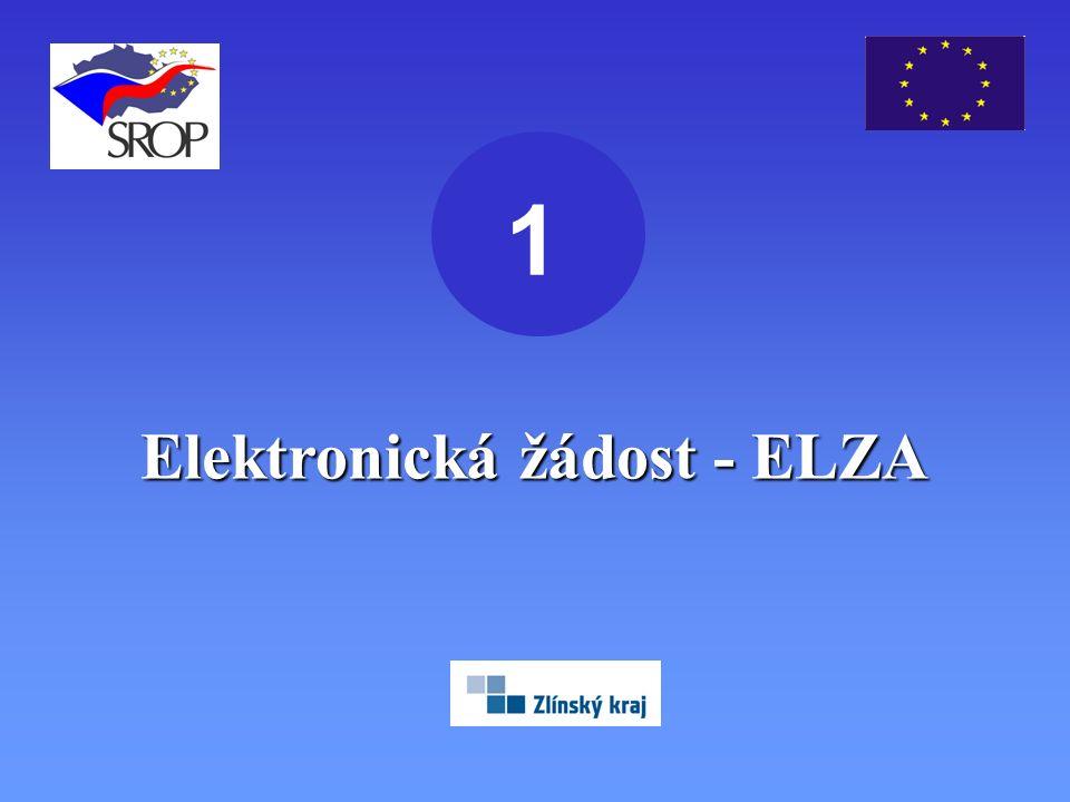 Elektronická žádost - ELZA 1