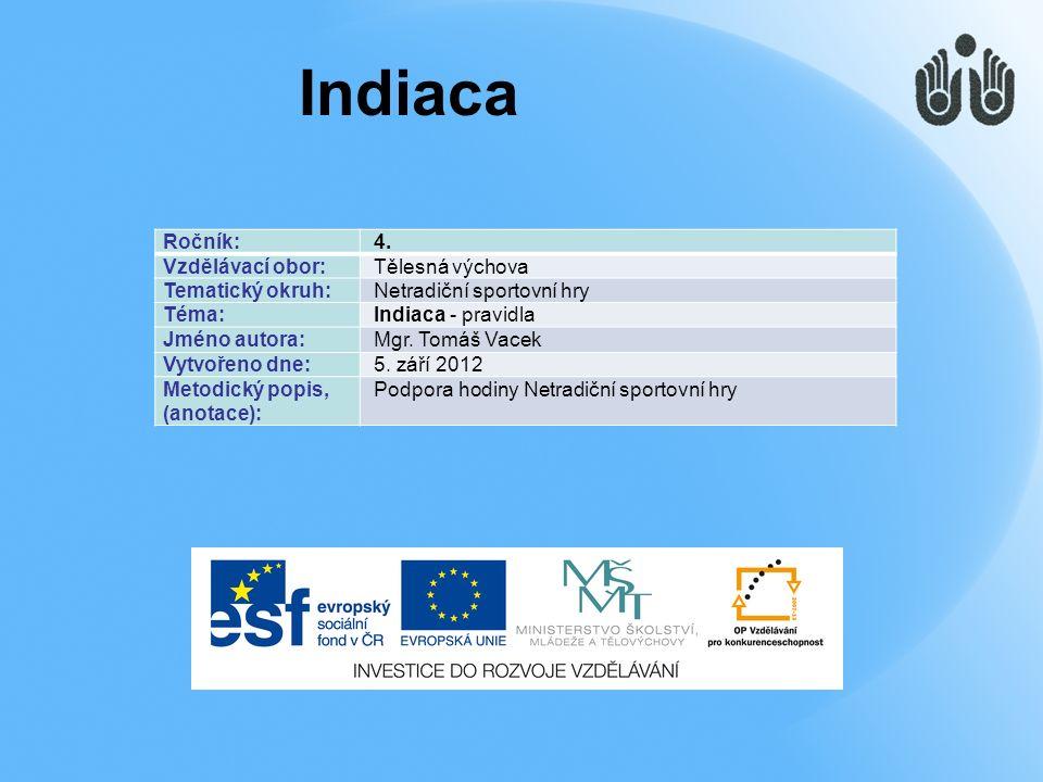  Indiaca je sportovní hra, která se hraje přes síť.