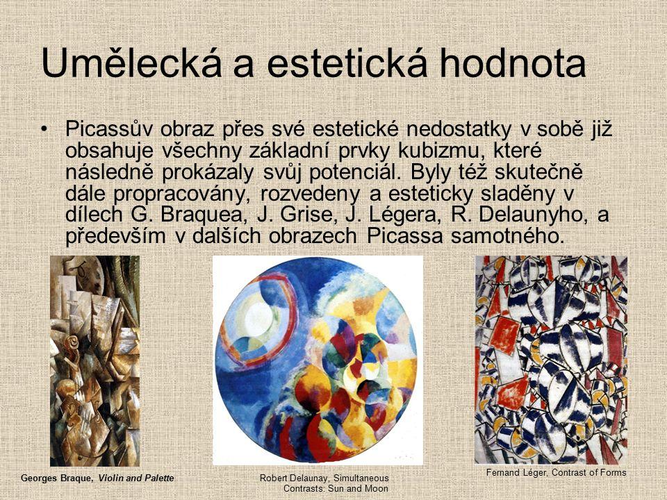 Picassův obraz přes své estetické nedostatky v sobě již obsahuje všechny základní prvky kubizmu, které následně prokázaly svůj potenciál.