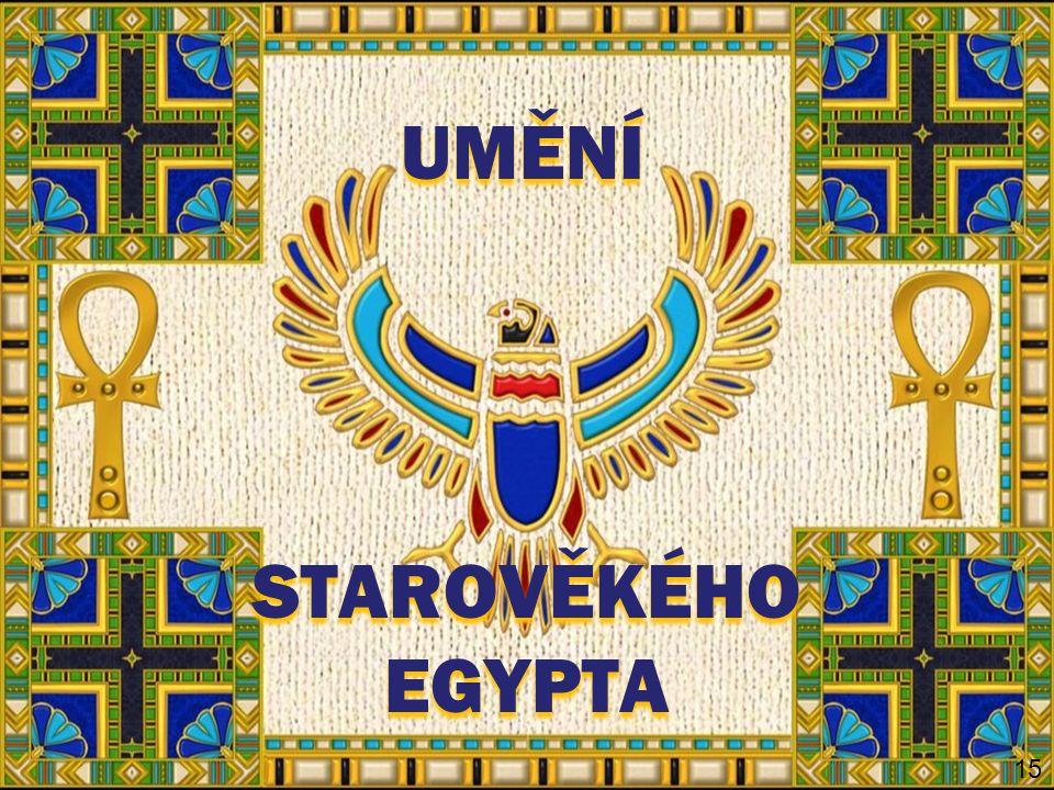 OPAKOVÁNÍ 20 Určete následující ukázky sochařství starověkého Egypta a vysvětlete význam pojmů.