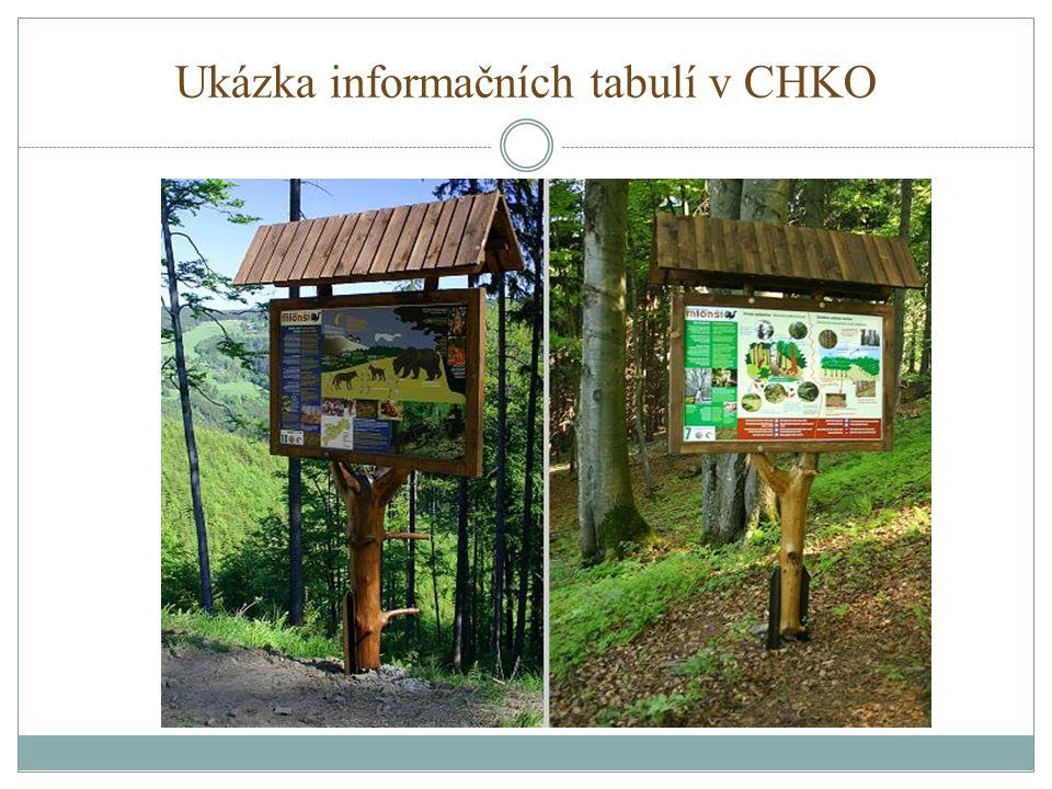 Ukázka informačních tabulí v CHKO