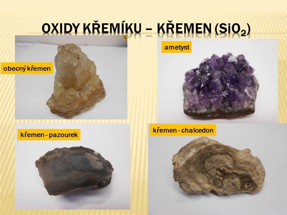  nejrozšířenější minerál v zemské kůře  vytváří křemenná zrna nebo křemenné žíly  také samostatně: oblázky, valouny  krystalický  nejčastěji bílý až šedý (tzv.