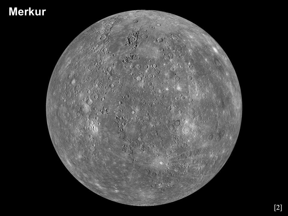 Merkur – základní charakteristiky Velká poloosa57 909 176 km Perihélium46 001 272 km Afélium69 817 079 km Oběžná doba87,97 d Perioda rotace58,65 d Rovníkový průměr4 879 km Hmotnost3,302·10 23 kg Průměrná hustota5 427 kg·m -3 Gravitace na rovníku3,701 m·s -2 Povrchová teplota (min, max, průměr)90 K, 700 K, 440 K Počet měsíců0 Atmosférický tlak~ 0 kPa Složení atmosféry: K (31,7 %), Na (24,9 %), O (9,5 %), O 2 (5,6 %), Ar (5,9 %), He (5,9 %), N 2 (5,2 %), CO 2 (3,6 %), H 2 0 (3,4 %), H 2 (3,2 %)