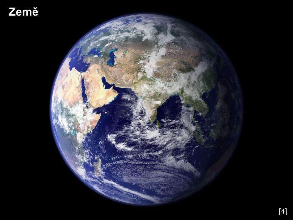 Země – základní charakteristiky Velká poloosa149 597 887 km Perihélium147 098 074 km Afélium152 097 701 km Oběžná doba365,257 d Perioda rotace23,934 h Rovníkový průměr12 756 km Hmotnost5,974·10 24 kg Průměrná hustota5 515 kg·m -3 Gravitace na rovníku9,78 m·s -2 Povrchová teplota (min, max, průměr)184 K, 329 K, 287 K Počet měsíců1 (Měsíc) Atmosférický tlak100 kPa Složení atmosféry: N 2 (78,08 %), O 2 (20,95 %), Ar (0,93 %), CO 2 (0,04 %), H 2 0 (0,03 %)