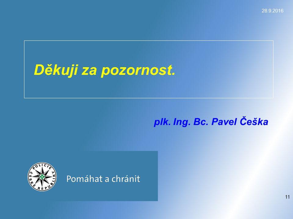 Děkuji za pozornost. plk. Ing. Bc. Pavel Češka 28.9.2016 11