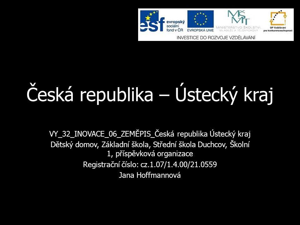 Základní údaje Rozloha – 5335 km 2 Počet obyvatel – přes 850 000 Krajské město – Ústí nad Labem Počet okresů – 7