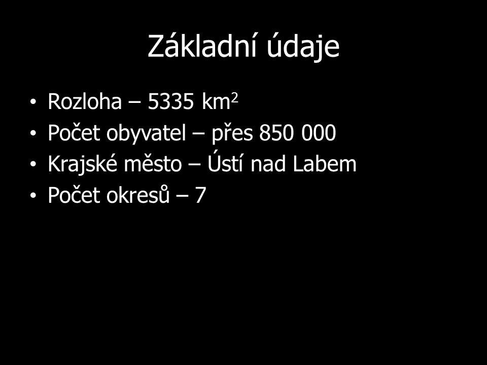 Velká města Děčín Chomutov Teplice Litoměřice Most Litvínov Louny Bílina Rumburk
