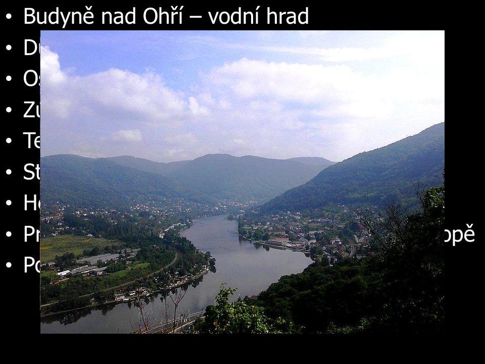Budyně nad Ohří – vodní hrad Duchcov – zámek, žil zde G.