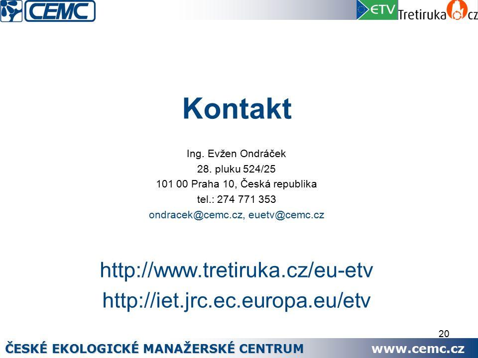 20 Kontakt Ing. Evžen Ondráček 28.