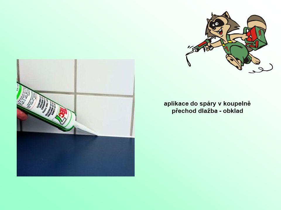 aplikace do spáry v koupelně přechod dlažba - obklad