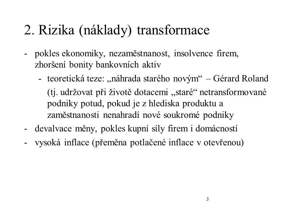 4 3.Klíčové otázky transformační strategie -gradualismus vs.