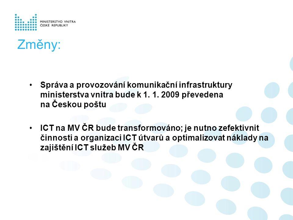 Změny: Správa a provozování komunikační infrastruktury ministerstva vnitra bude k 1.