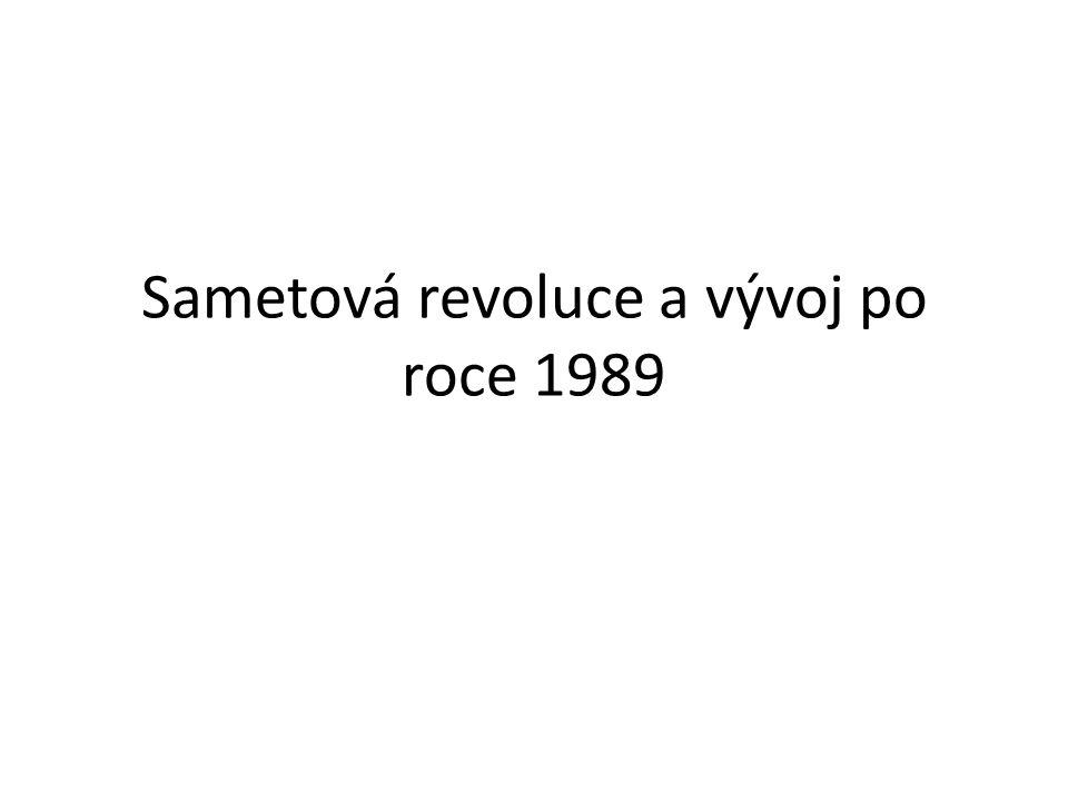 Sametová revoluce a vývoj po roce 1989