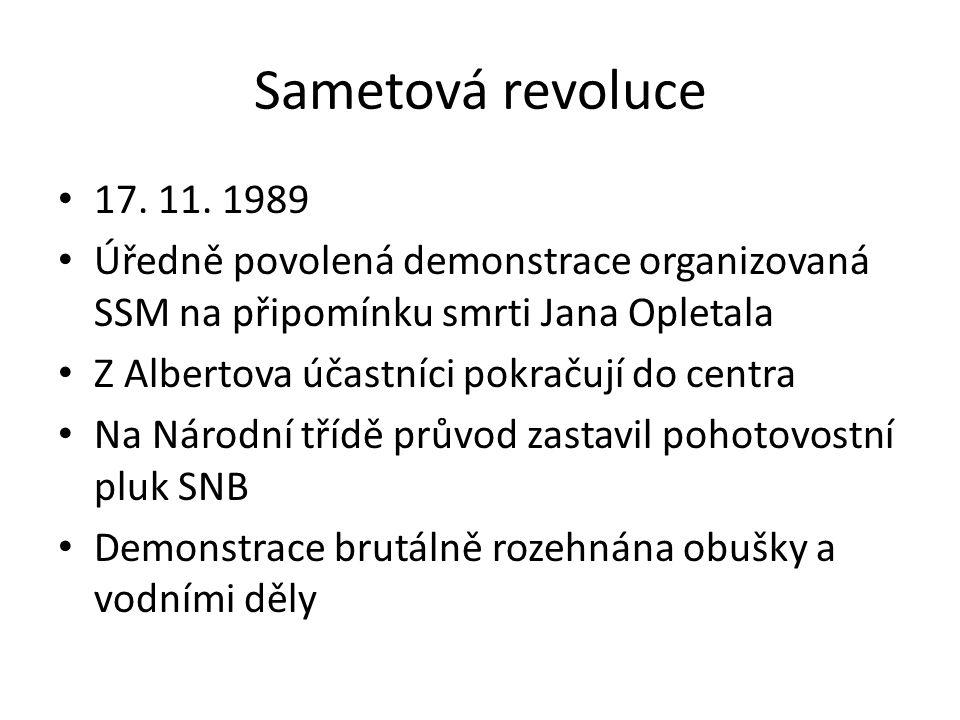 Sametová revoluce 17.11.
