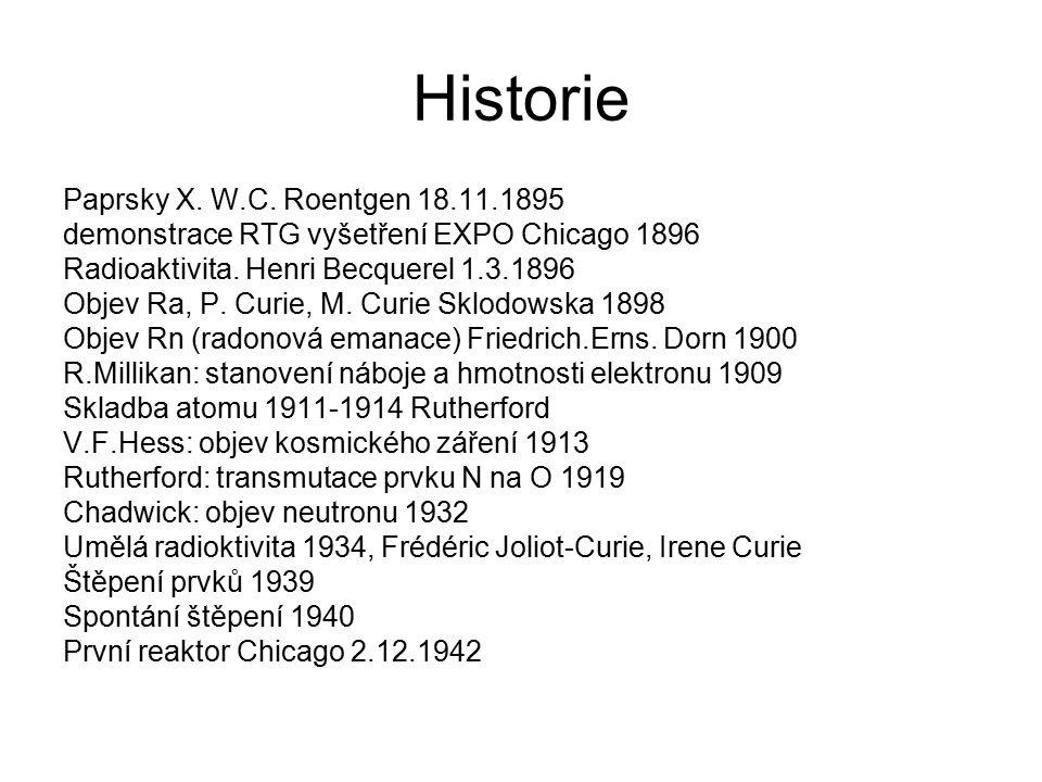 Historie Paprsky X. W.C.