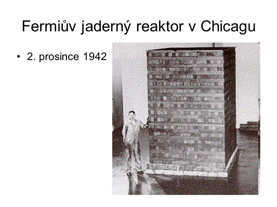 Fermiův jaderný reaktor v Chicagu 2. prosince 1942