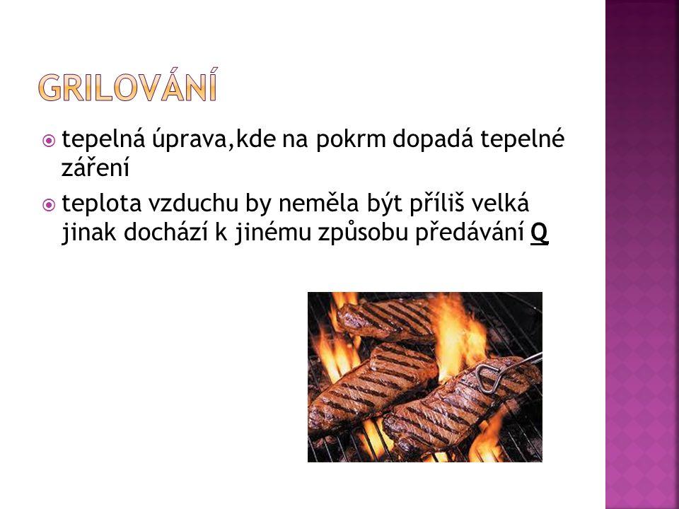  tepelná úprava pokrmů s menším množstvím vody (pokrm se dusí ve vlastní šťávě) =>dochází k uchování chuti pokrmu