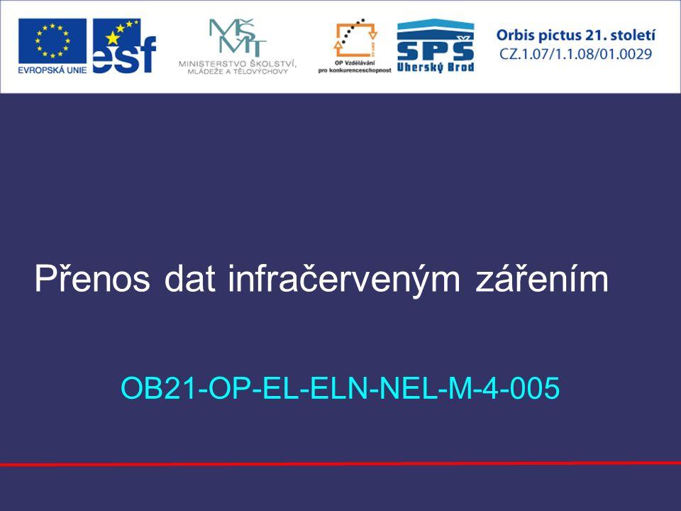 Přenos dat infračerveným zářením OB21-OP-EL-ELN-NEL-M-4-005
